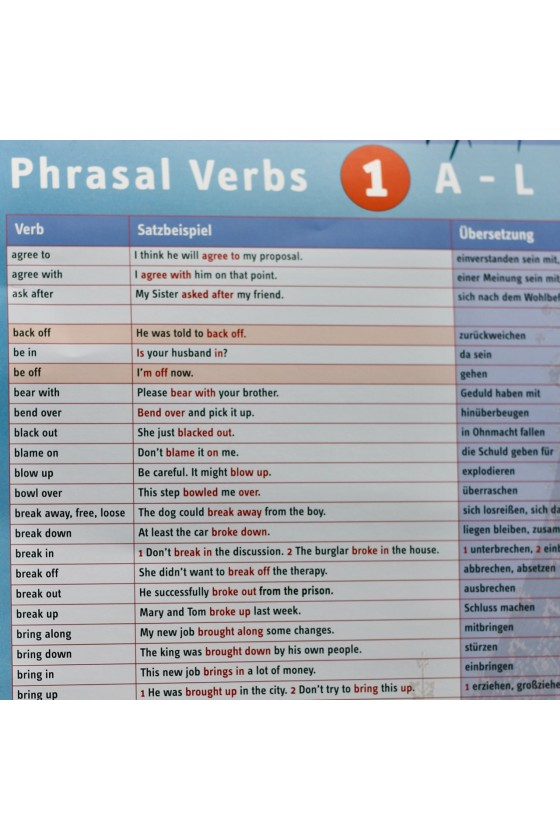 English Phrasal Verbs: A-L