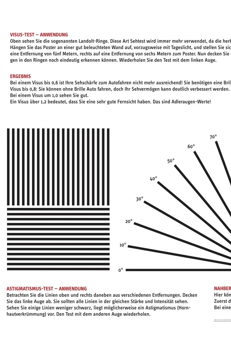 Sehtest / Augentest Ausschnitt